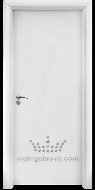 Интериорна HDF врата, модел 030 Бял