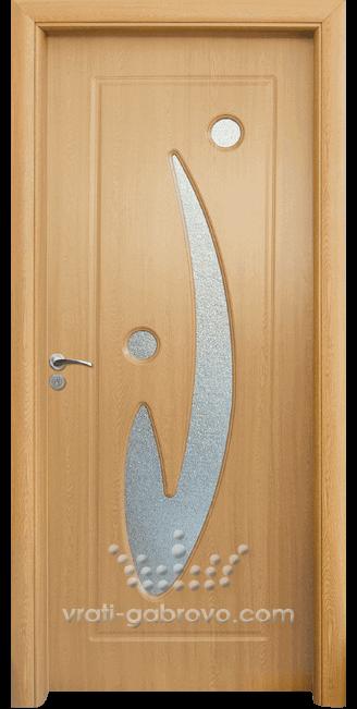 Интериорна HDF врата, модел 070 Светъл дъб