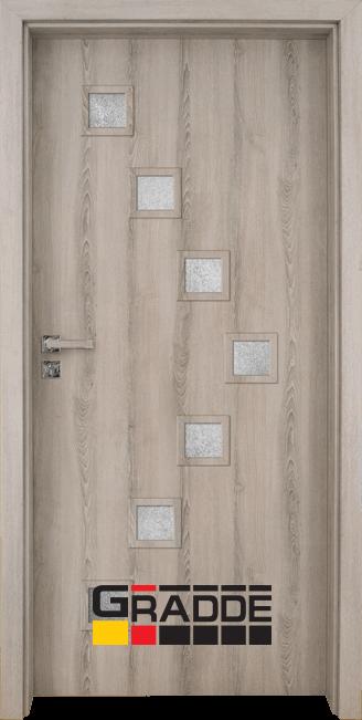 Интериорна HDF врата, модел Gradde Zwinger, Ясен Вералинга