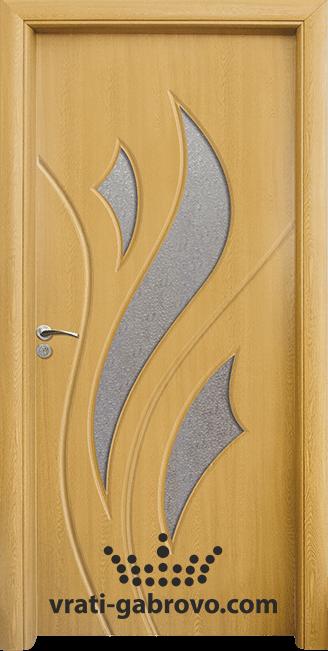 Интериорна HDF врата, модел 033 Светъл дъб