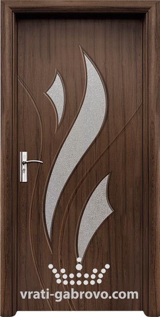 Интериорна HDF врата, модел 033 Орех