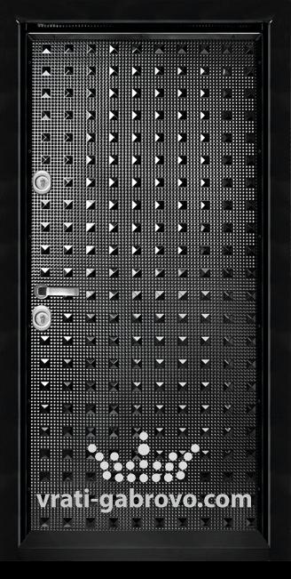 Блиндирана входна врата, модел Т777 Черен гланц