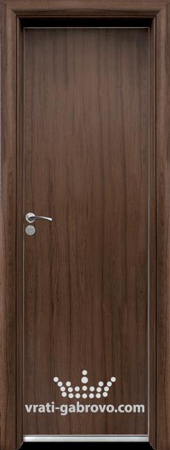 Алуминиева врата за баня – Стандарт цвят Орех